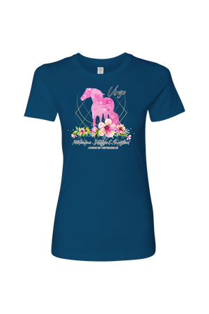 Virgo Horse Shirt for Women-T-shirt-teelaunch-Next Level Womens Shirt-Cool Blue-S-Three Wild Horses