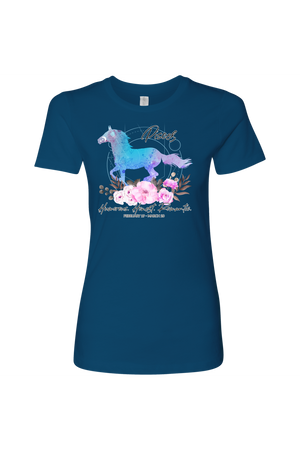 Pisces Horse Shirt for Women-T-shirt-teelaunch-Next Level Womens Shirt-Cool Blue-S-Three Wild Horses