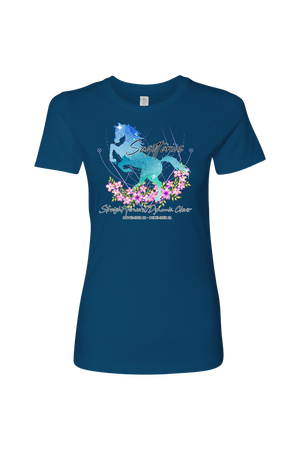 Sagittarius Horse Shirt for Women-T-shirt-teelaunch-Next Level Womens Shirt-Cool Blue-S-Three Wild Horses