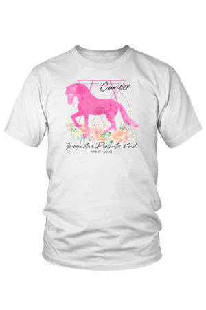 Cancer Horse Unisex Shirt-T-shirt-teelaunch-District Unisex Shirt-White-S-Three Wild Horses