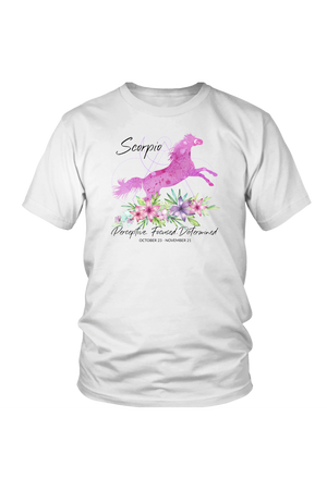 Scorpio Horse Unisex Shirt-T-shirt-teelaunch-District Unisex Shirt-White-S-Three Wild Horses