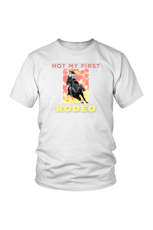 Not My First Rodeo Horse Shirt-T-shirt-teelaunch-Unisex Tee-White-S-Three Wild Horses