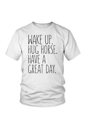 Lavender Hug Horse Have A Great Day Horse T-Shirt