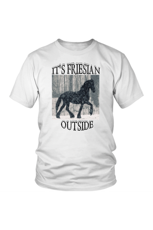 Dark Slate Gray It's Friesian Outside T-Shirt