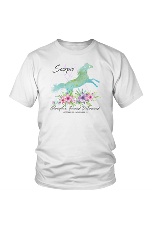 Scorpio Horse Unisex Short-T-shirt-teelaunch-District Unisex Shirt-White-S-Three Wild Horses