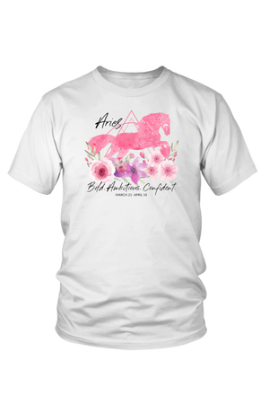 Aries Horse Unisex Shirt-T-shirt-teelaunch-District Unisex Shirt-White-S-Three Wild Horses