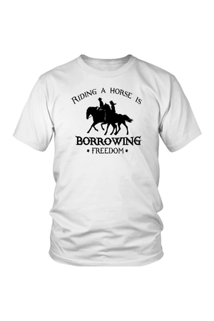 Lavender Riding A Horse - Borrowing Freedom T-Shirt