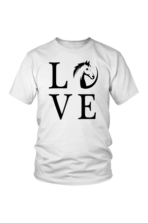Lavender Horse Love T-Shirt in White