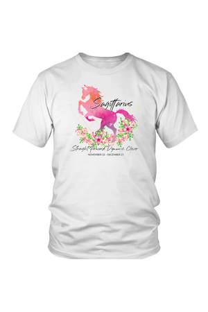 Sagittarius Horse Unisex Shirt-T-shirt-teelaunch-District Unisex Shirt-White-S-Three Wild Horses