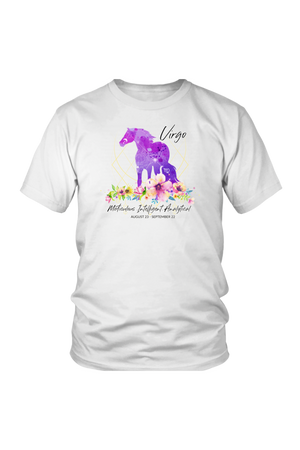 Virgo Horse Unisex Shirt-T-shirt-teelaunch-District Unisex Shirt-White-S-Three Wild Horses