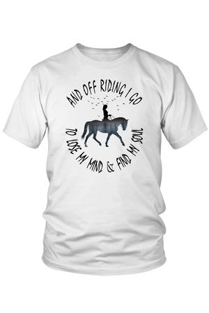 Lavender And Off Riding I Go - T-Shirt in White