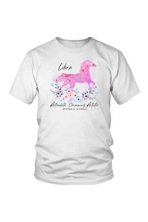 Libra Horse Unisex Shirt-T-shirt-teelaunch-District Unisex Shirt-White-S-Three Wild Horses