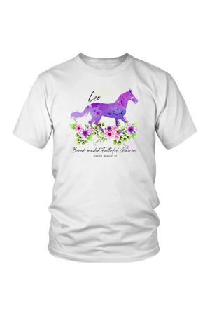 Leo Horse Unisex Shirt-T-shirt-teelaunch-District Unisex Shirt-White-S-Three Wild Horses