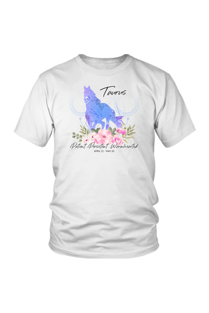 Taurus Horse Unisex Shirt-T-shirt-teelaunch-District Unisex Shirt-White-S-Three Wild Horses