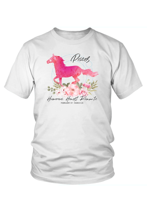 Pisces Horse Unisex Shirt-T-shirt-teelaunch-District Unisex Shirt-White-S-Three Wild Horses
