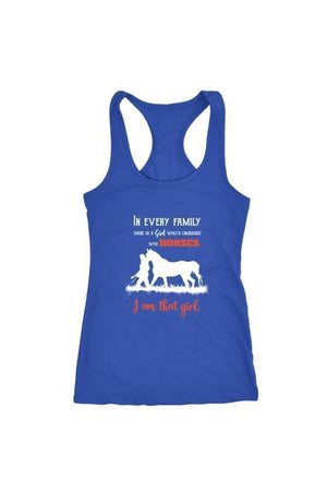 I Am That Girl - Tops-Tops-teelaunch-Racerback Tank-Royal Blue-S-Three Wild Horses