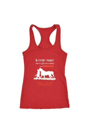 They Call Me Grandma - Tops-Tops-teelaunch-Racerback Tank-Red-S-Three Wild Horses