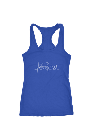 Horsebeat - Tops-Tops-teelaunch-Racerback Tank-Royal Blue-S-Three Wild Horses
