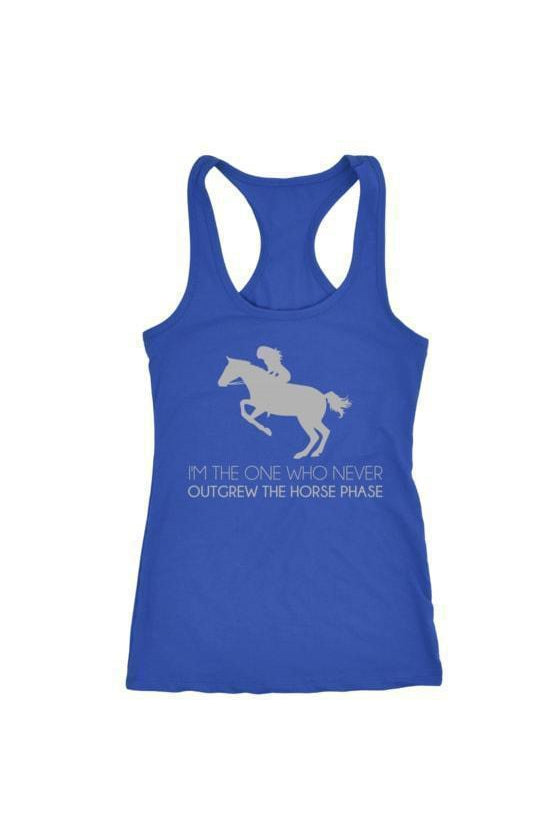 I Never Outgrew the Horse Phase - Tops-Tops-teelaunch-Racerback Tank-Royal Blue-S-Three Wild Horses