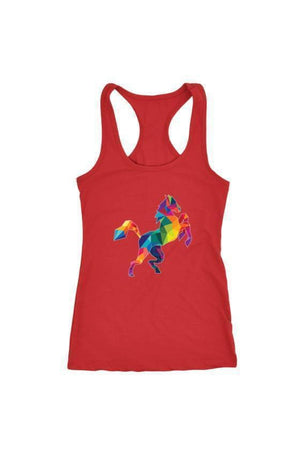 Horsing Around - Tops-Tops-teelaunch-Racerback Tank-Red-S-Three Wild Horses