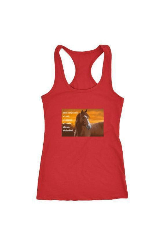 My Horse, My Friend - Tops-Tops-teelaunch-Racerback Tank-Red-S-Three Wild Horses