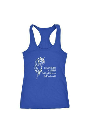 I Wasn't Born in a Barn - Tops-Tops-teelaunch-Racerback Tank-Royal Blue-S-Three Wild Horses
