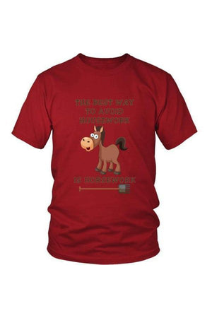 The Best Way To Avoid Housework - Tops-Tops-teelaunch-Unisex Tee-Red-S-Three Wild Horses