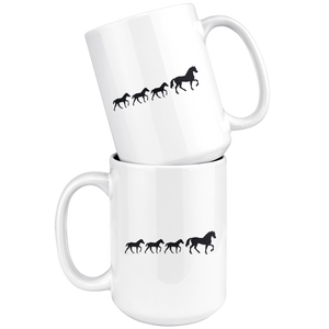 White Smoke Three Foal Mug