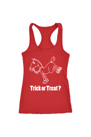 Trick Or Treat? - Tops-Tops-teelaunch-Racerback Tank-Red-S-Three Wild Horses