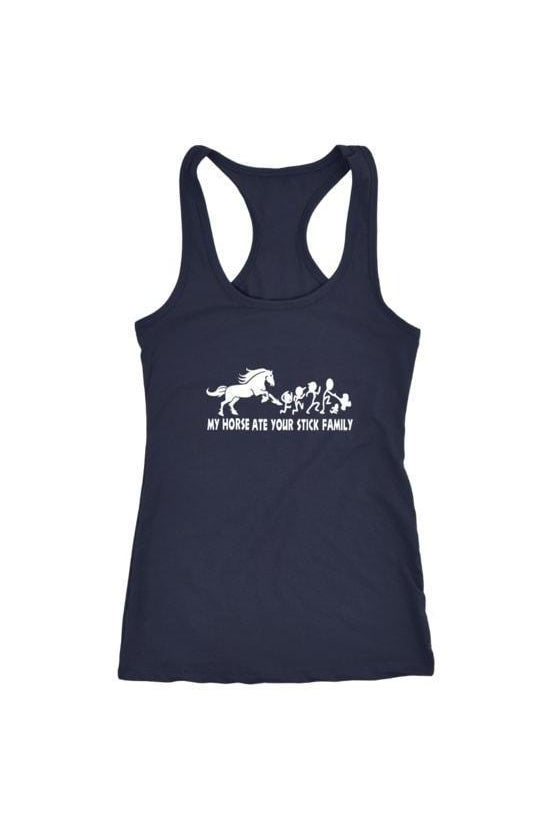 My Horse Ate Your Stick Family - Tank Tops in Grey