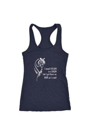 I Wasn't Born in a Barn - Tops-Tops-teelaunch-Racerback Tank-Navy-S-Three Wild Horses