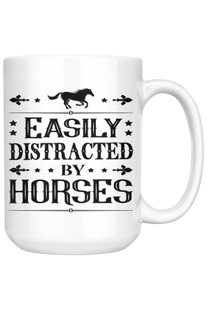White Smoke Easily Distracted by Horses Mug