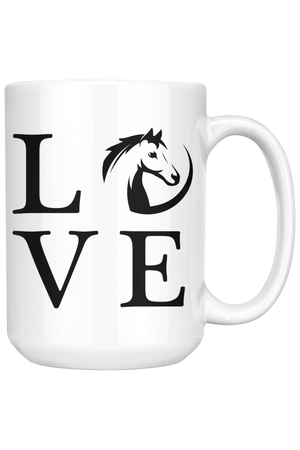 White Smoke Horse Love Mug