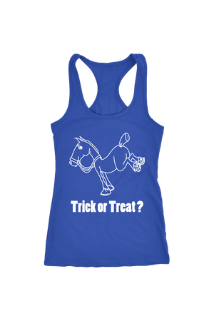 Trick Or Treat? - Tops-Tops-teelaunch-Racerback Tank-Royal Blue-S-Three Wild Horses