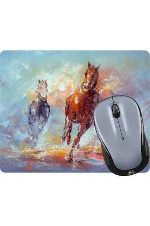 Running in the Rain - Mouse Pad-Mousepads-teelaunch-Mouse pad-Three Wild Horses