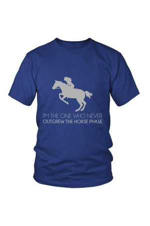 I Never Outgrew the Horse Phase - Tops-Tops-teelaunch-Unisex Tee-Royal Blue-S-Three Wild Horses