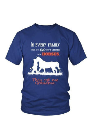 They Call Me Grandma - Tops-Tops-teelaunch-Unisex Tee-Royal Blue-S-Three Wild Horses