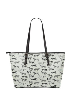 Horse Water Resistant Tote Bag-Tote Bags-Pillow Profits-9-Three Wild Horses