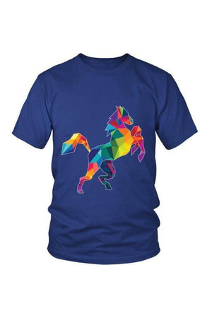 Horsing Around - Tops-Tops-teelaunch-Unisex Tee-Royal Blue-S-Three Wild Horses