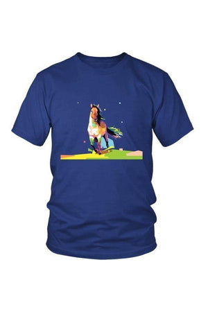 Running Around - Tops-Tops-teelaunch-Unisex Tee-Royal Blue-S-Three Wild Horses