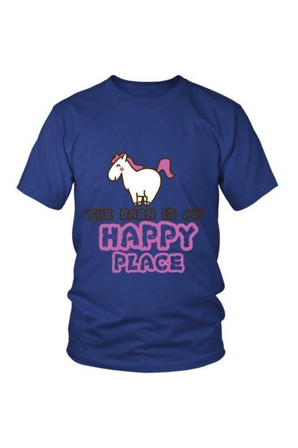 The Barn Is My Happy Place - Tops-Tops-teelaunch-Unisex Tee-Royal Blue-S-Three Wild Horses