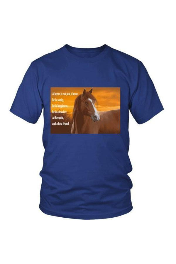 My Horse, My Friend - Tops-Tops-teelaunch-Unisex Tee-Royal Blue-S-Three Wild Horses