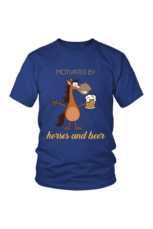 Horses and Beer - Tops-Tops-teelaunch-Unisex Tee-Royal Blue-S-Three Wild Horses