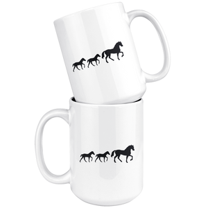 White Smoke Two Foal Mug