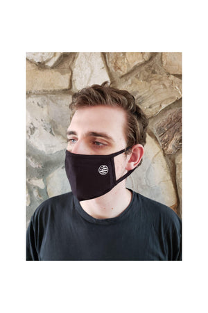 Sienna Face Mask Black with Circle Flag Detail