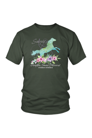 Scorpio Horse Unisex Short-T-shirt-teelaunch-District Unisex Shirt-Olive-S-Three Wild Horses