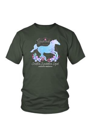Aquarius Horse Unisex Shirt-T-shirt-teelaunch-District Unisex Shirt-Olive-S-Three Wild Horses