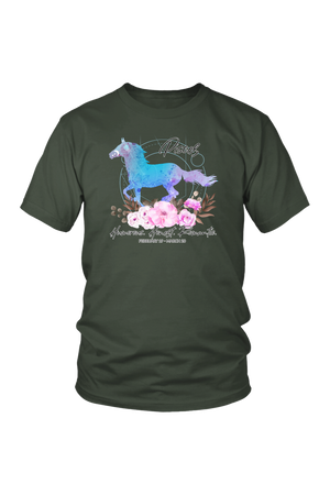 Pisces Horse Unisex Shirt-T-shirt-teelaunch-District Unisex Shirt-Olive-S-Three Wild Horses