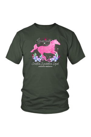 Aquarius Zodiac Horse Unisex Shirt-T-shirt-teelaunch-District Unisex Shirt-Olive-S-Three Wild Horses