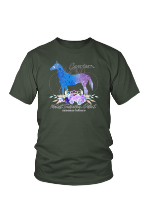 Capricorn Horse Unisex Shirt-T-shirt-teelaunch-District Unisex Shirt-Olive-S-Three Wild Horses